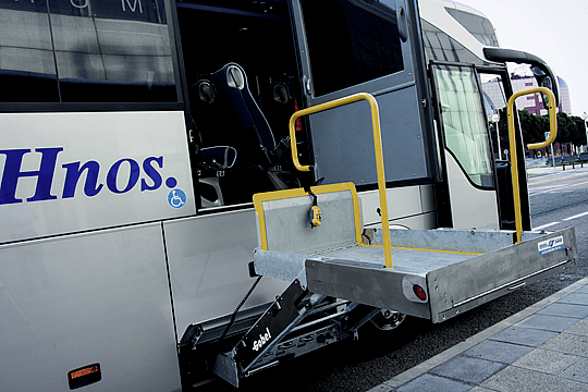 Bus adapted for the disabled