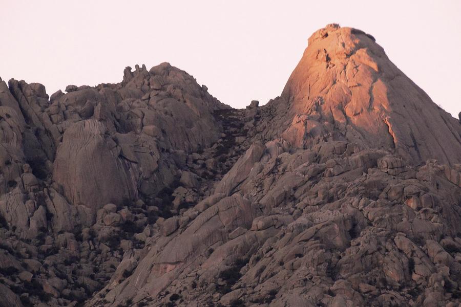 Transporte especial para escalada en la Sierra de Guadarrama