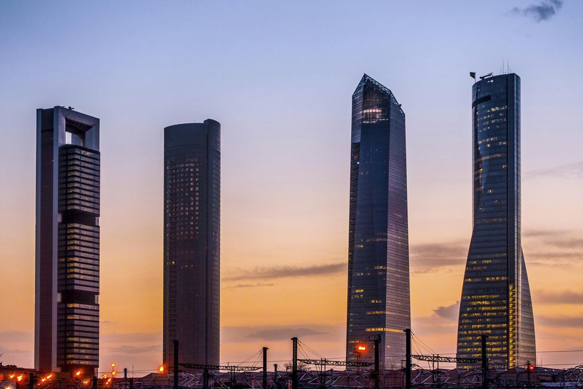 Desde lo alto: rascacielos de Madrid